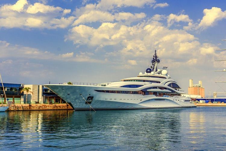 Yacht di lusso.